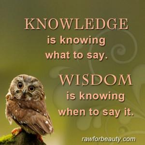 Knowledge & Wisdom | Quote