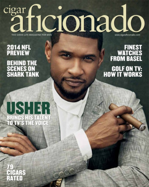 ... Photos for Cigar Aficionado image Usher Cigar Aficionado 001 800x1000