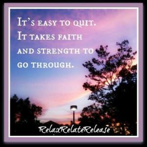 Faith & strength!