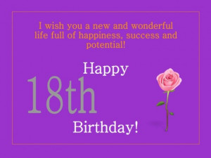 Cool 18th Happy Birthday Wishes and Messages | A Great Collection