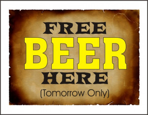 Funny Beer Quotes And Jokes: Funny Beer Sign Beer Quote In Yellow Old ...