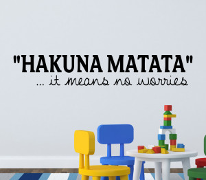 Details about LION KING WALL STICKER HAKUNA MATATA QUOTE KIDS WALL ...