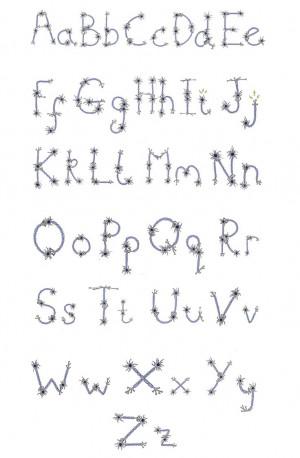 Neuron Alphabet typography