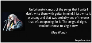 More Roy Wood Quotes