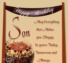 Happy Birthday To Grown Son | Birthday Wishes for Son - Birthday ...
