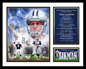 Troy Aikman Dallas Cowboys -Hall of Fame 2006 Milestone- Framed ...