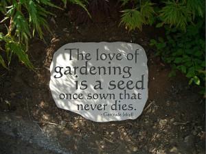 Garden Inspirational Quote
