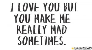 Love You But You Make Me Really Mad Smetimes.