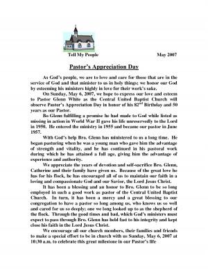 Pastors Appreciation Day by fionan