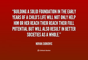 Building a Solid Foundation Quotes