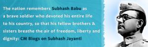 ... son of India, Netaji Subhash Chandra Bose on his birth anniversary