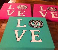 Delta Sigma Pi DIY canvas paiting ♥ More