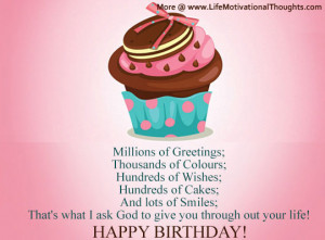 Inspirational Happy Birthday Wishes | Motivational Quotes, Birthday ...