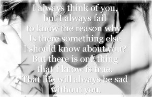 Related to Thinking of You Quotes and Sayings - Beautiful Love Quotes