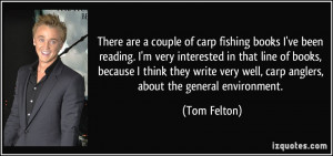 There are a couple of carp fishing books I've been reading. I'm very ...