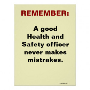 Humorous Health and Safety Slogan Print