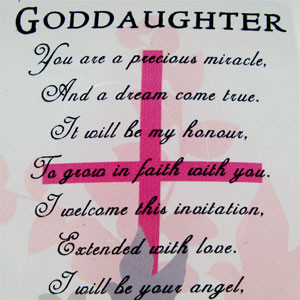 ... Godchild Photo Frames Goddaughter Sentiment Words and Two Photo Frame