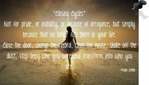 Motivational Quotes | Closing Cycles | Paulo Coelho [CLICK 2 READ AN ...