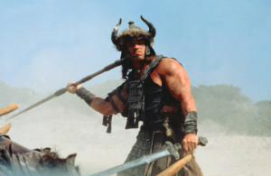 Arnold Schwarzenegger in Conan the Barbarian, 1982