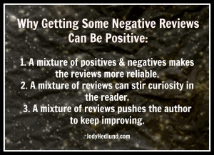 mixture of positives & negatives makes the reviews more reliable ...