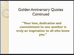 50th Golden Anniverary Quotes More