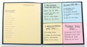 Sample Recognition Sticky Notes used for Day-to-Day Recognition