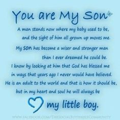 sayings and quotes sons birthday quotes, happy birthday my son quotes ...