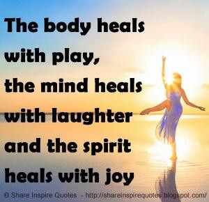 rene Laughter heals the soul #Quotes about laughter & joy