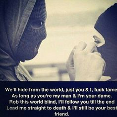 ride or die till the end together not together thats how its always ...