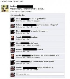 Trolling Facebook Status