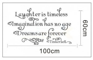 Tinkerbell Quotes And Sayings 60*100 cm