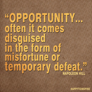 Art Quote of the Day: Opportunity