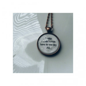 it was a good day Ice Cube lyric quote necklace- Today I didn't even ...