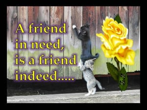 friend in need is a friend indeed