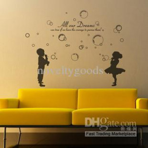 Blowing bubbles Kids Wall Stickers Art Decal Vinyl