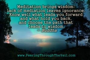 Meditation Quote by Buddha