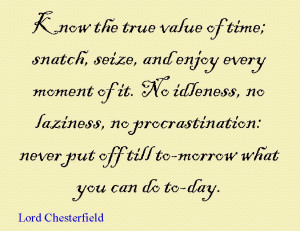 Quote of the Day : Lord Chesterfield