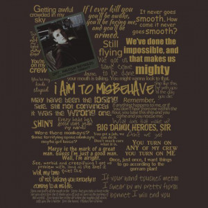 Capt Mal Reynolds Quotes shirt. Because he was awesome. Firefly was ...