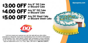 Dairy Queen Cake Coupons Printable 2014