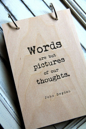 words are but pictures quote, etsy, quotes and notes