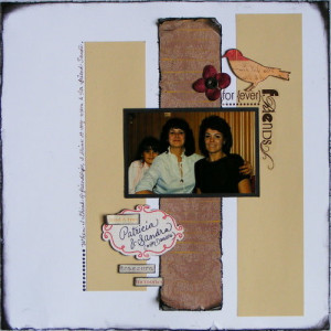 Friendship Quotes & a Scrapbook Layout