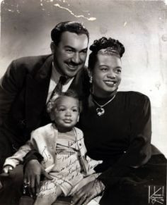 ... Powell Jr. and his wonderful pianist wife Hazel Scott and Adam Jr