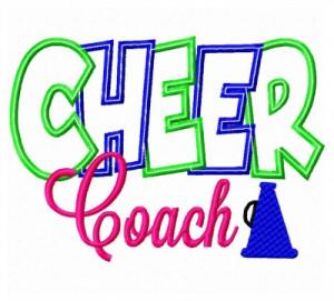 Cheer Coach Applique