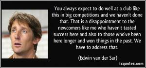 Edwin van der Sar Quote
