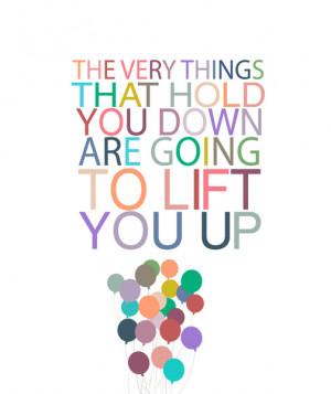lift you up.. dumbo inspirational quote Art Print