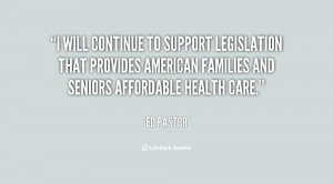 will continue to support legislation that provides American families ...