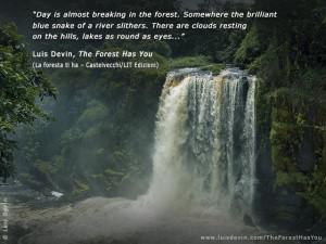 Waterfall in the rainforest (Gabon).