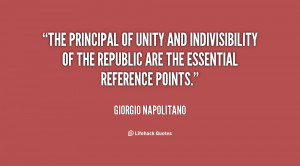 The principal of unity and indivisibility of the republic are the ...
