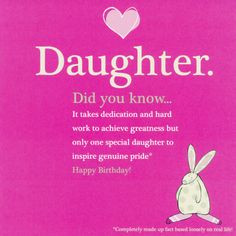 ... Words for Daughter | The Tickle Company My Daughter Birthday Card More