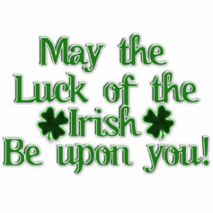 May the Luck of The Irish...Text Image Photo Cutout